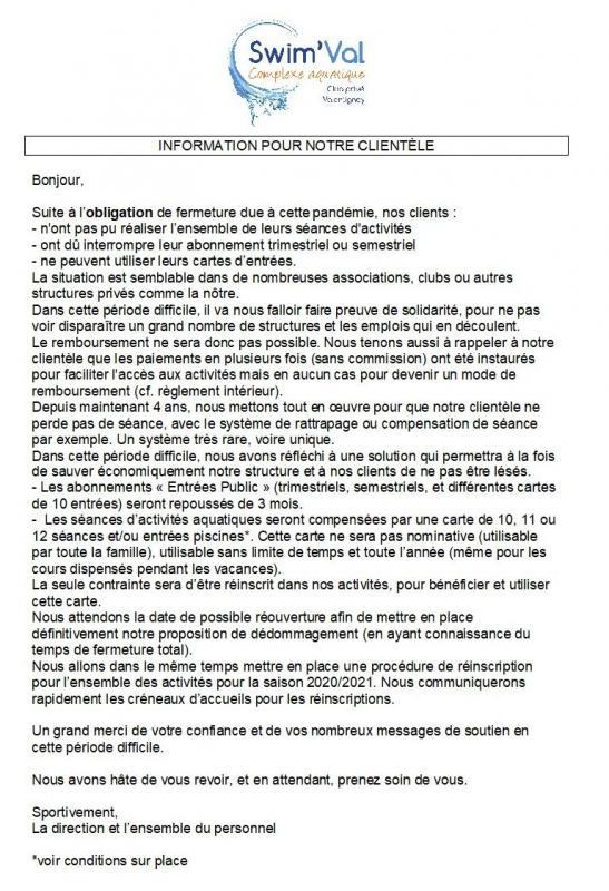 Covid activites compensation 1