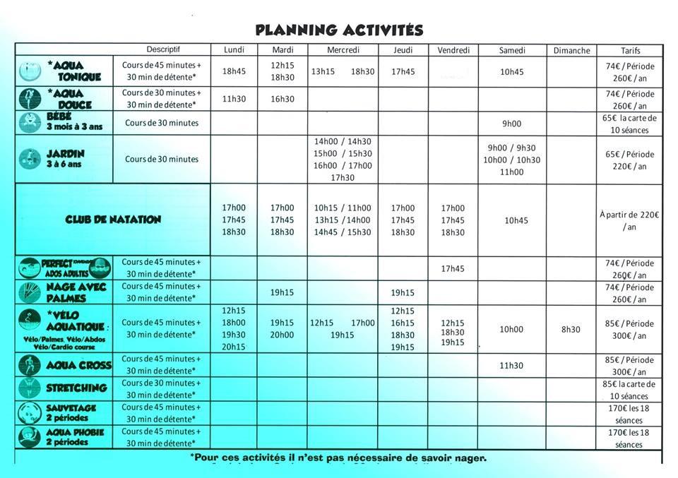 Planning activites 3