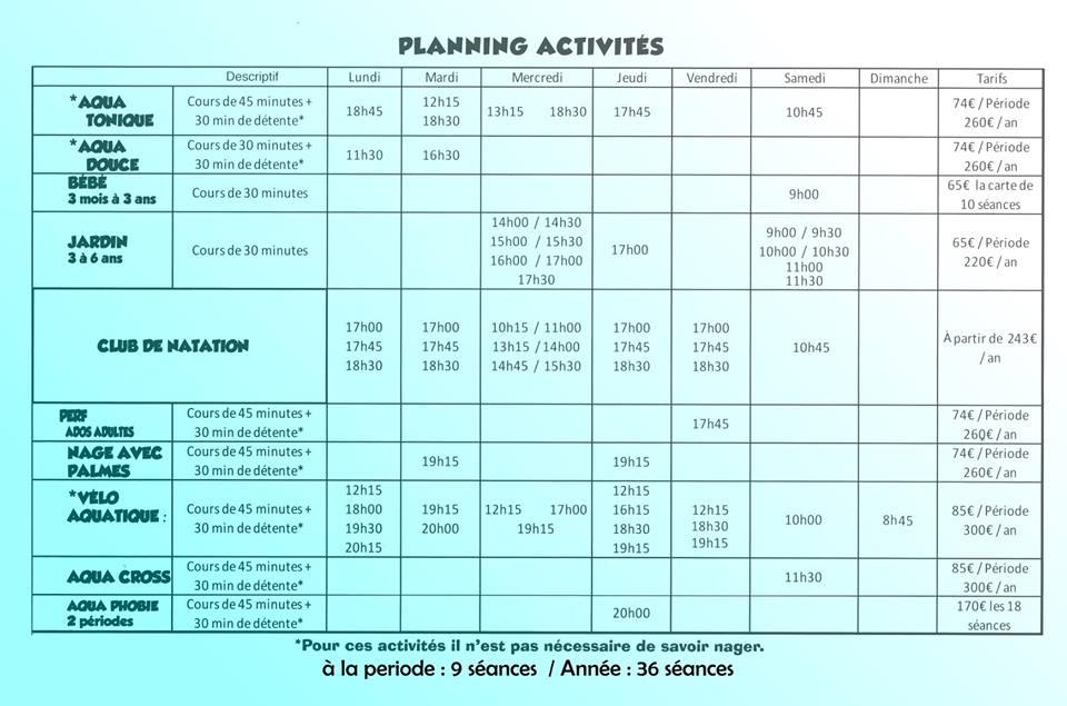 Planning activites 4
